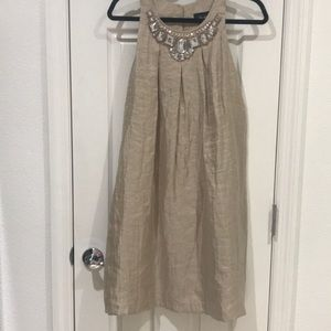 Beige Dress with Rhinestones👗👗Stunning